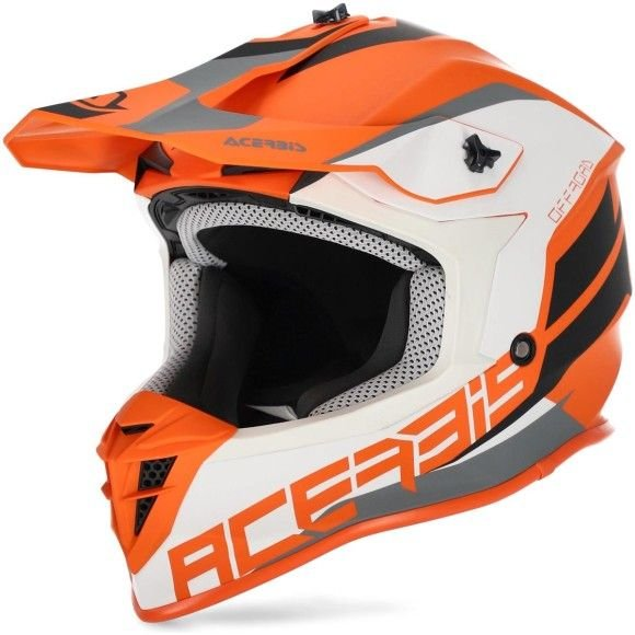 Casco cross enduro Acerbis Linear arancione-bianco collezione 2022