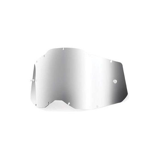 Lente 100% per Strata 2 Accuri 2 Racecraft 2 Specchiata Mirror Silver
