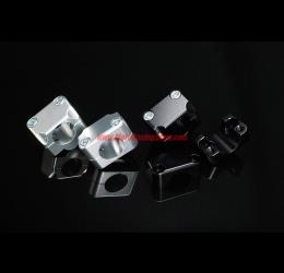 Adattatori Accossato versione CROSS per trasformazioni manubrio da 22mm a 28mm in ergal ricavati dal pieno ALTI 30MM