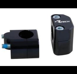 Adattatori Racetech versione CROSS per trasformazioni manubrio da 22mm a 28mm in ergal ricavati dal pieno ALTI 25MM