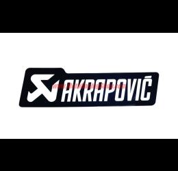 Adesivo resistente al calore con scritta AKRAPOVIC monocromatico