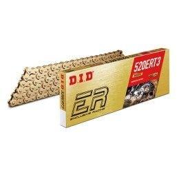 Catena DID 520 ERT3 Gold & Gold passo 520 Off-Road 120 maglie senza O-RING e con giunto a clip