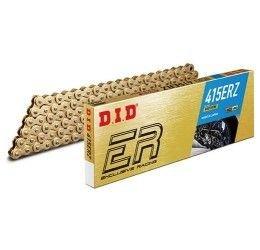 Catena DID 415 ERZ Gold & Gold passo 415 Racing 140 maglie senza O-RING e con giunto a clip