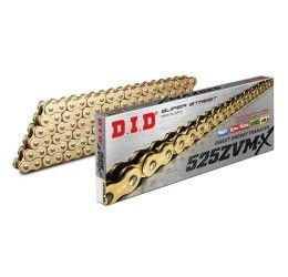 Catena DID 525 ZVM-X Gold & Gold passo 525 120 maglie con X-RING e giunto a rivetto