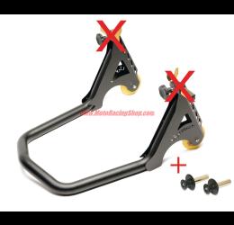 Cavalletto posteriore regolabile Lightech universale a rulli per forchetta montata su tenditore alta qualità 4.5kg