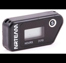 Contaore esercizio motore wireless con parziale resettabile NRTEAM nero