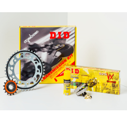 Kit trasmissione DID per Aprilia Caponord 1000 ABS 01-07 (Catena DID 525-ZVMX 114 maglie - Pignone 17 - Corona 47 - Passo 525) modifica corona +2