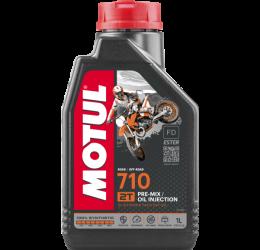 Olio miscelatore Motul 710 2T 1L (adatto anche su moto ad iniezione 2T)
