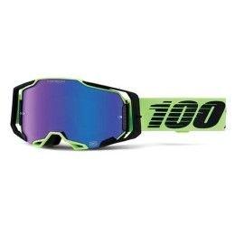 Occhiali Off-Road 100% Armega modello Uruma lente HIPER a specchio blu