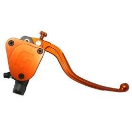Pompa freno radiale Accossato 16x16 con serbatoio integrato e leva fissa colorata