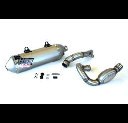 Scarico completo HGS T1 con collettore in acciaio e terminale alluminio con fondello in acciaio per KTM 250 SX-F 19-21