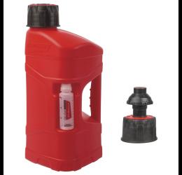 Tanica rifornimento Polisport Pro Octane con tappo a pressione con arresto del flusso automatico in polietilene 10 LT omologata