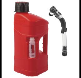 Tanica rifornimento Polisport Pro Octane con tubo con arresto del flusso automatico in polietilene 10 LT omologata