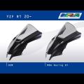 Vetro Cupolino plexyglass MRA modello Racing doppia bombatura per Yamaha R1 20-21