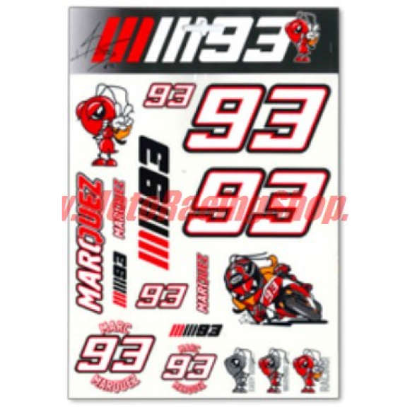 Marc Marquez Stickers official TOP RACERS design by VR46 (LAST AVAILABLE)
