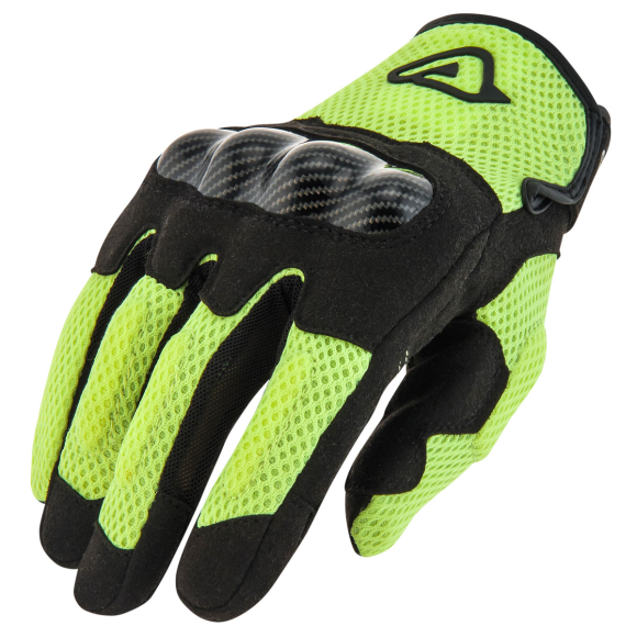 Acerbis touring gloves Ramsey My Vented black-fluo yellow colour (LAST PIECES AVAILABLE)