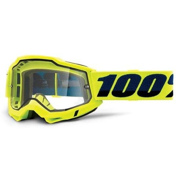 Off-Road Goggle 100% The Accuri 2 Enduro Moto model Yellow clear dual vented lens