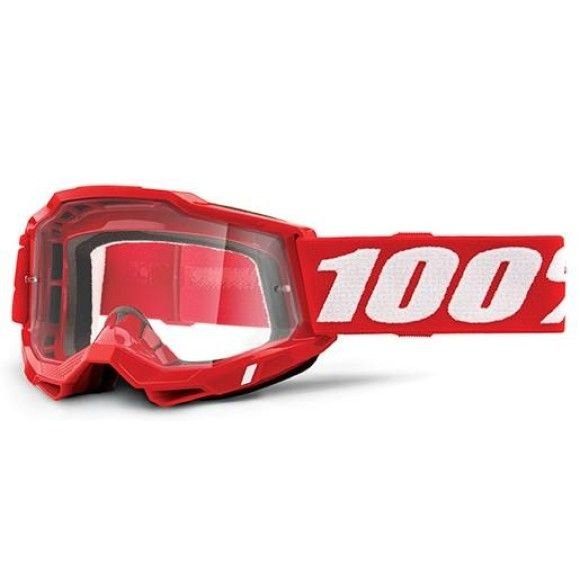 Off-Road Goggle 100% The Accuri 2 OTG model Red clear lens