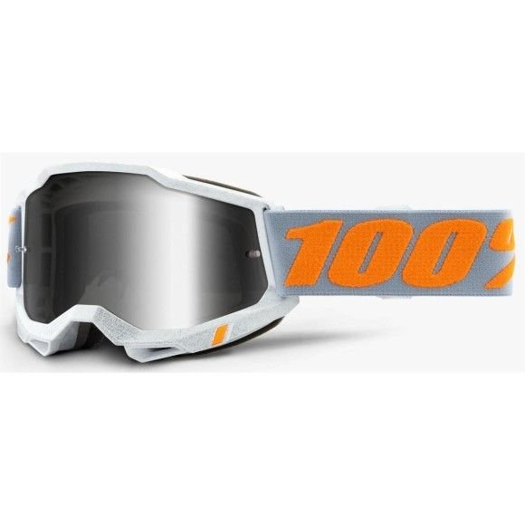 Off-Road Goggle 100% The Accuri 2 model Speedco Mirror silver lens (Also included: Clear lens extra) (LAST AVAILABLE)