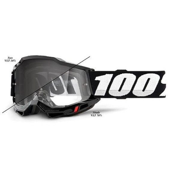Off-Road Goggle 100% The Accuri 2 model Woods Black photocrhromic lens