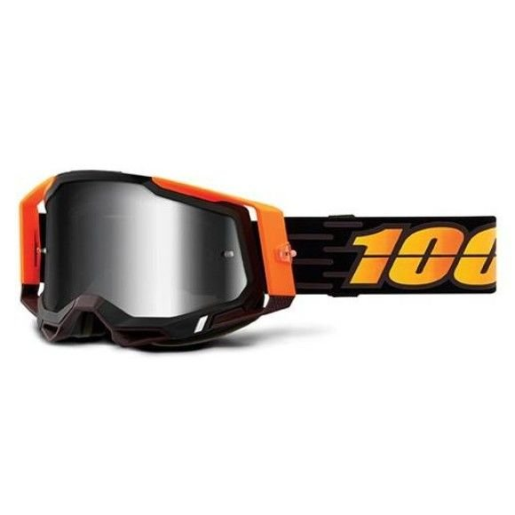 Off-Road Goggle 100% The Racecraft 2 model Costume Mirror silver lens (Also Included: Clear lens extra and Stack of Tear-Off extra)