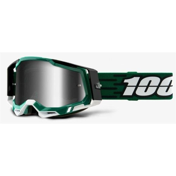 Off-Road Goggle 100% The Racecraft 2 model Milori Mirror silver lens (Also Included: Clear lens extra and Stack of Tear-Off extra)