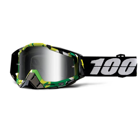 Off-Road Goggle 100% The Racecraft model Bootcamp Mirror silver lens (Also Included: Clear lens extra and Stack of Tear-Off extra) - LAST AVAILABLE (LAST AVAILABLE)