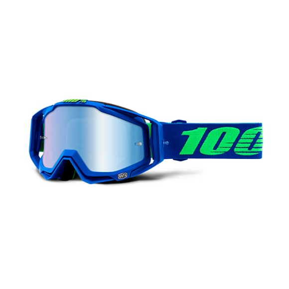 Off-Road Goggle 100% The Racecraft model Dreamflow Mirror blue lens (Also Included: Clear lens extra and Stack of Tear-Off extra) (LAST AVAILABLE)