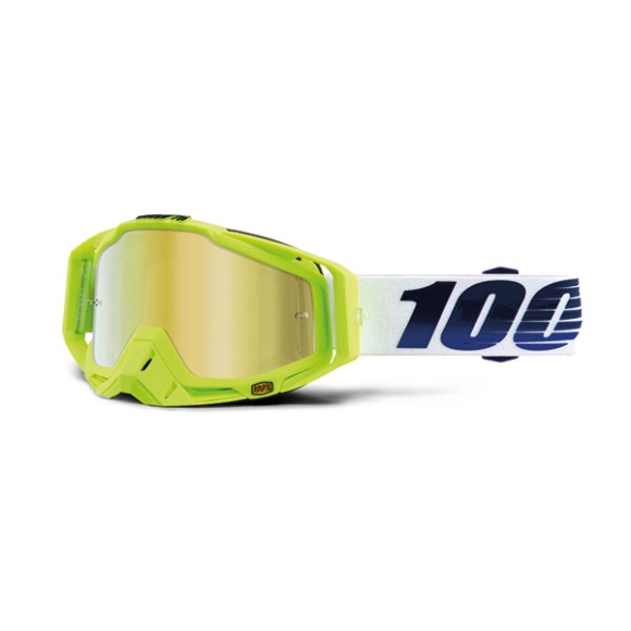 Off-Road Goggle 100% The Racecraft model GP21 Mirror gold lens (Also Included: Clear lens extra and Stack of Tear-Off extra) (LAST AVAILABLE)