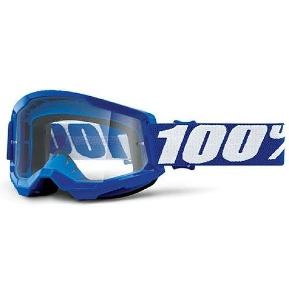 Off-Road Goggle 100% The Strata 2 model Blue Clear lens