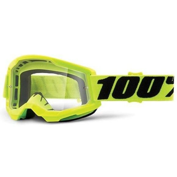 Off-Road Goggle 100% The Strata 2 model Yellow Clear lens