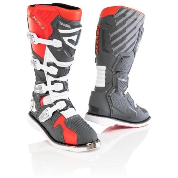 Off-road boots Acerbis X-Race Red-Grey 2021 collection