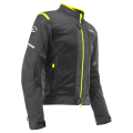 Acerbis touring jacket Ramsey My Vented 2.0 with protective inserts black-fluo yellow colour