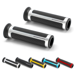 Barracuda racing grips rubber with aluminium (one pair)
